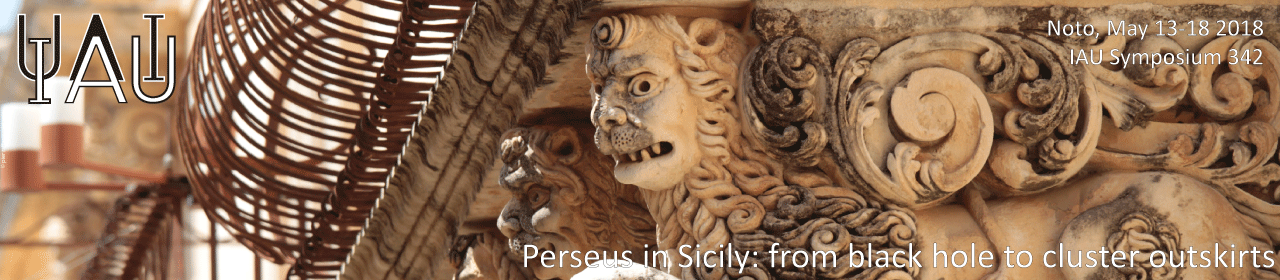 Perseus in Sicily: from black hole to cluster outskirts